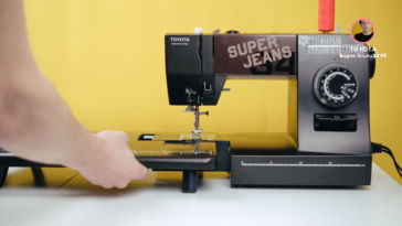 Anschiebetisch für die Nähmaschine toyota nähmaschine Toyota Nähmaschine Test: SuperJ34PE Super Jeans