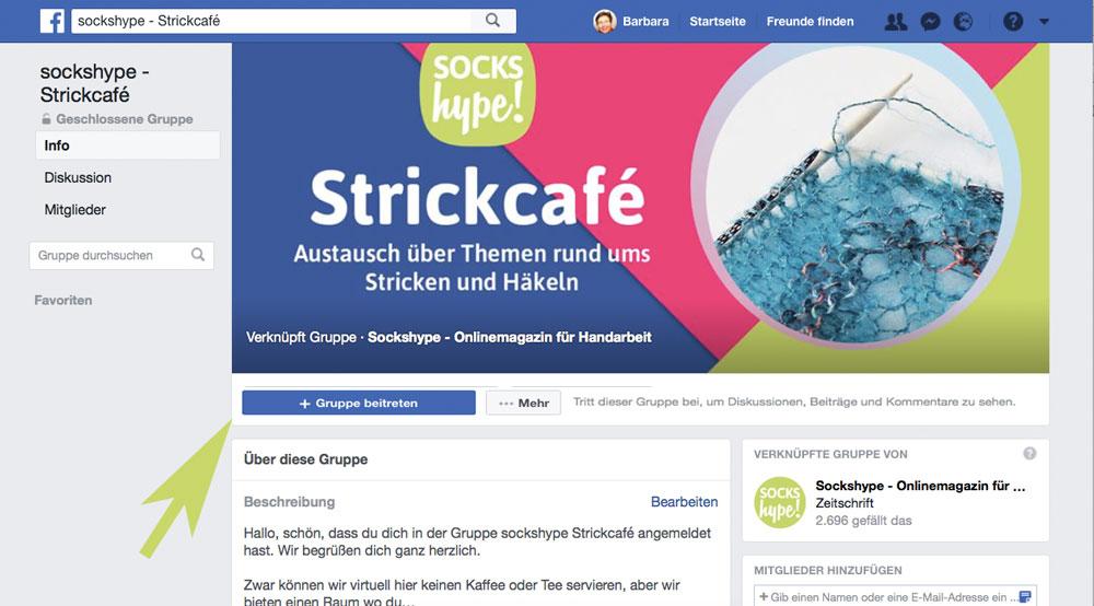 sockshype Strickcafé - die Facebook-Gruppe für alle Strick- und Häkelbegeisterten sockshype strickcafé Die Facebook-Gruppe – sockshype Strickcafé