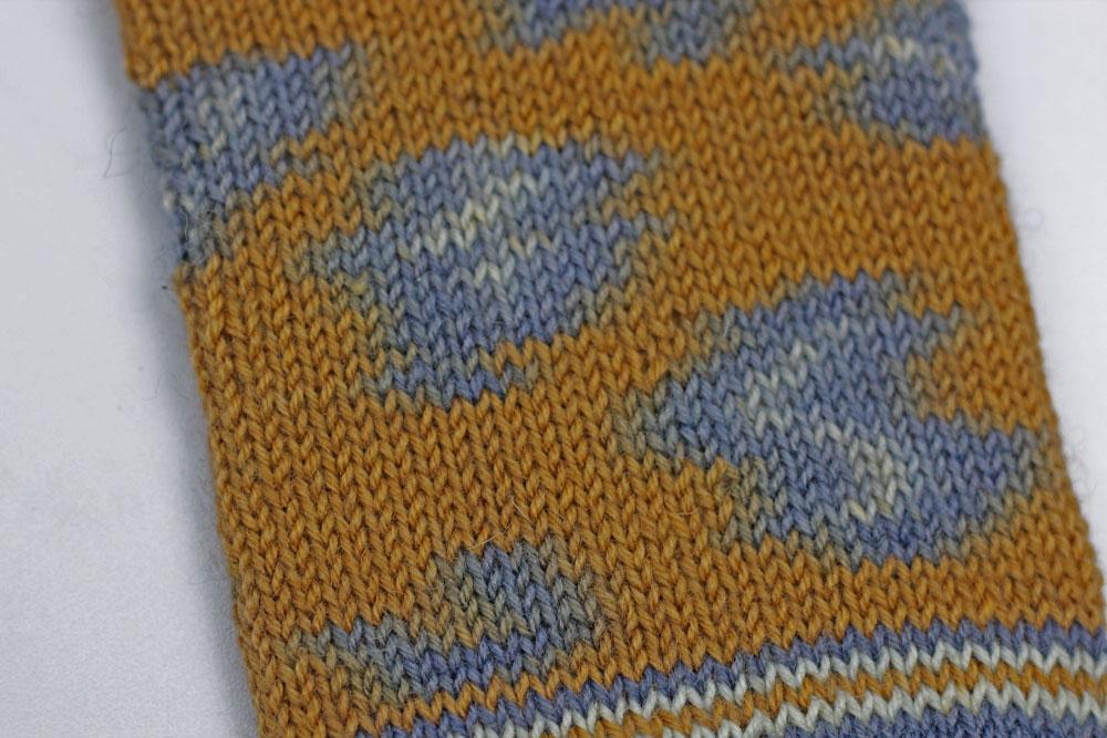 Kinda Magic Socks - Die Farbflächen sollten bei Verwendung der richtigen Maschenprobe schön rund werden.