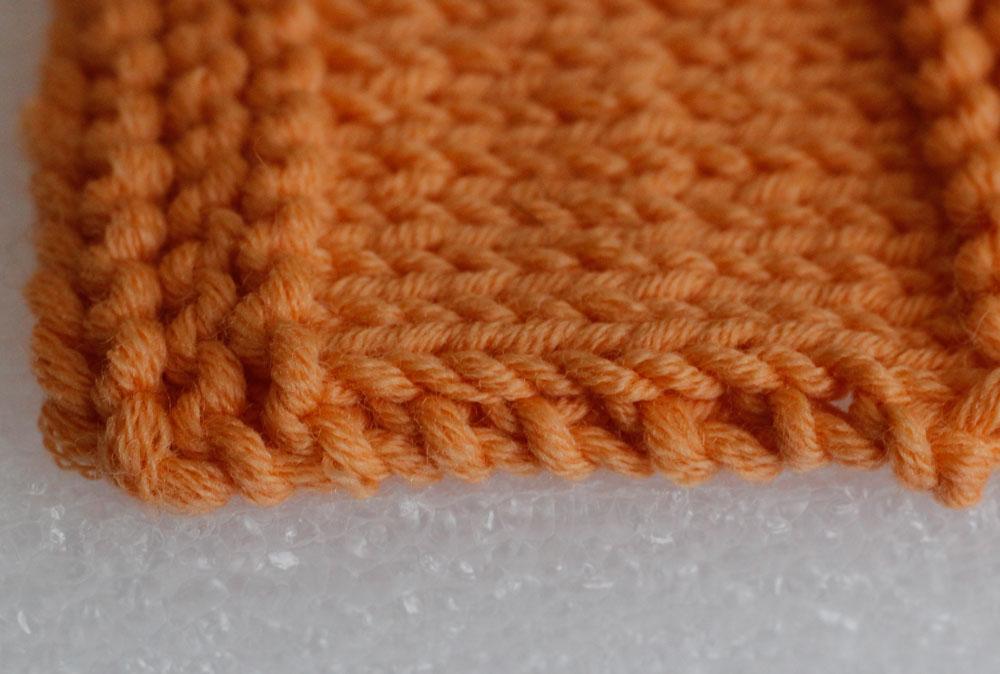 Randmaschen stricken: Knötchenmaschen