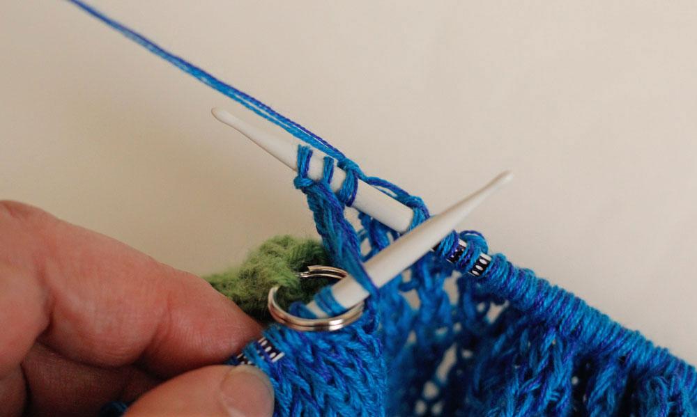 Dreieckstuch stricken - Abnahmen