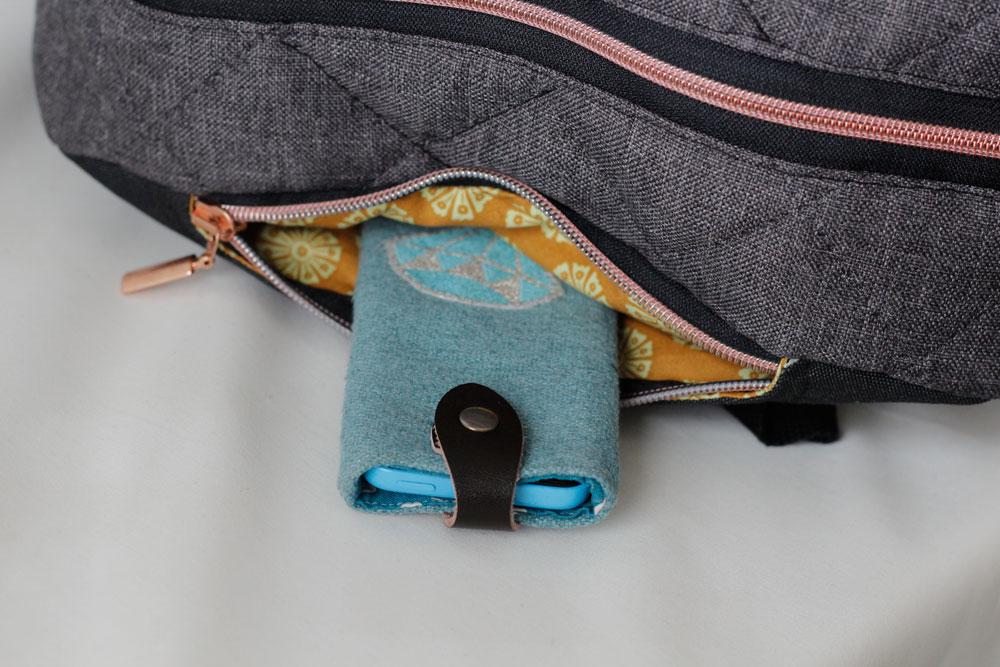 MachDeinDing 2018 - obere Zusatztasche für schnell griffbare Dinge.