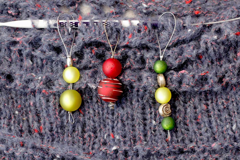 Maschenmarkierer selber machen - Perlen