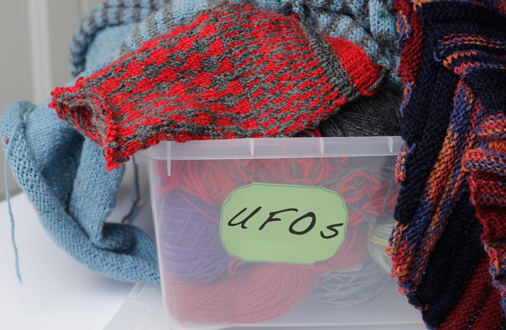 UFOs - unfertige Objekte - eine gefüllte Kiste