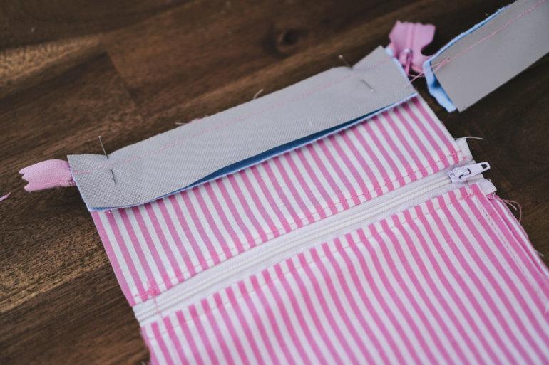 Hüfttasche nähen mit Reißverschluss