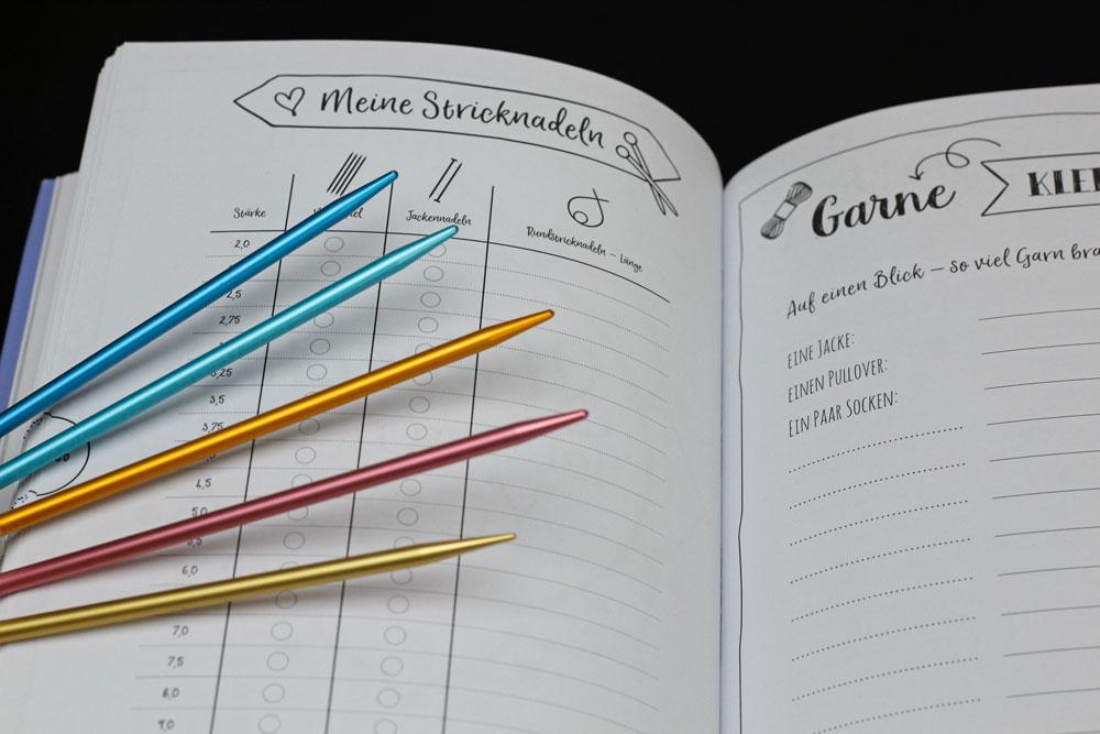 Mein Bullet Diary - Fülle die Tabelle mit deinen vorhandenen Stricknadeln aus, Dann weißt du stets, ob du die richtige Nadel für dein nächstes Projekt hast.