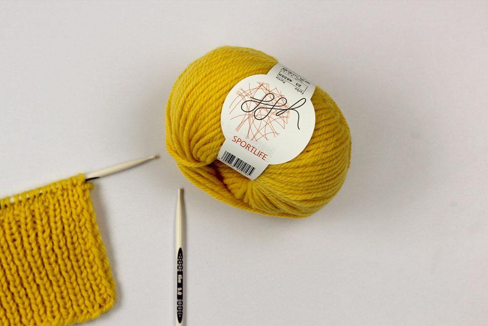 Gelbe Wolle