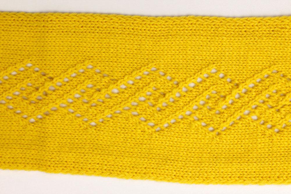 Pullunder stricken: Stickschrift für Spital-Rauten-Muster