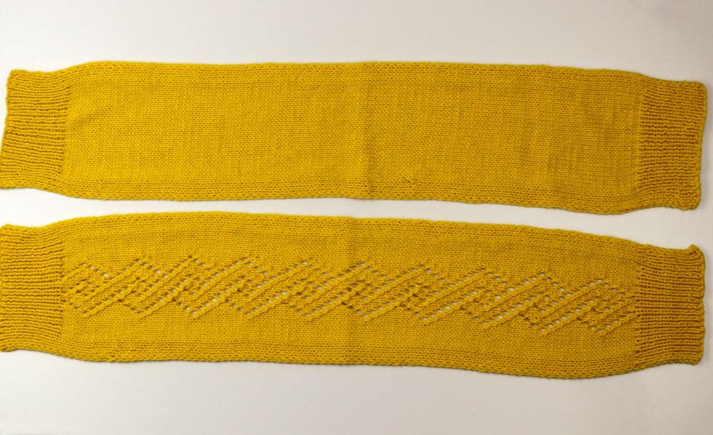 Pullunder stricken: Der Pullunder wird aus zwei Schalteilen gestrickt.
