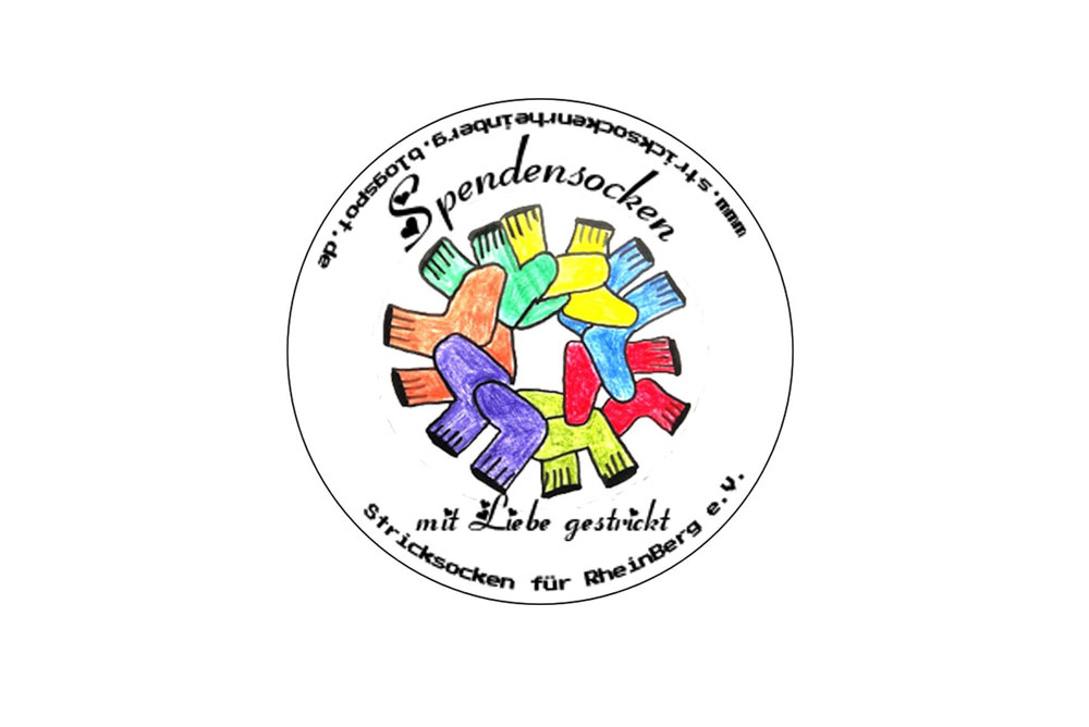 Stricksocken für RheinBerg - Logo