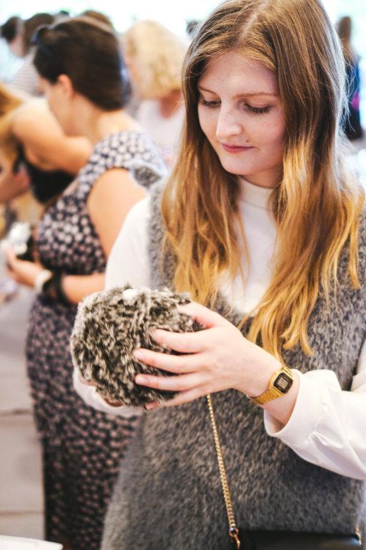 Stricken auf dem Tag der Wolle 2018 in Freiburg