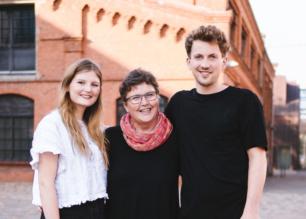 Das Generationenteam: links Marit, Mitte Barbara, rechts Mark