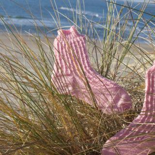 BeritSocks am Strand von Texel