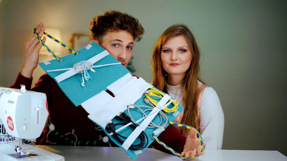 DIY Geschenke für Männer: Kabelsortierer