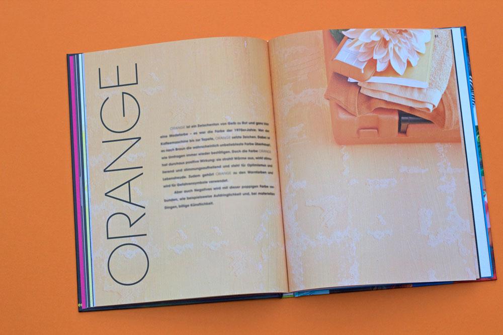 Statement Socken stricken - Farbe Orange - Farbteil