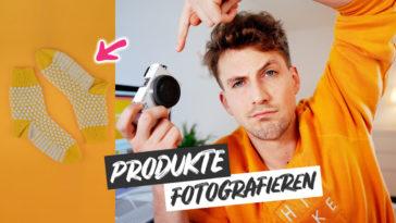 Produkte fotografieren