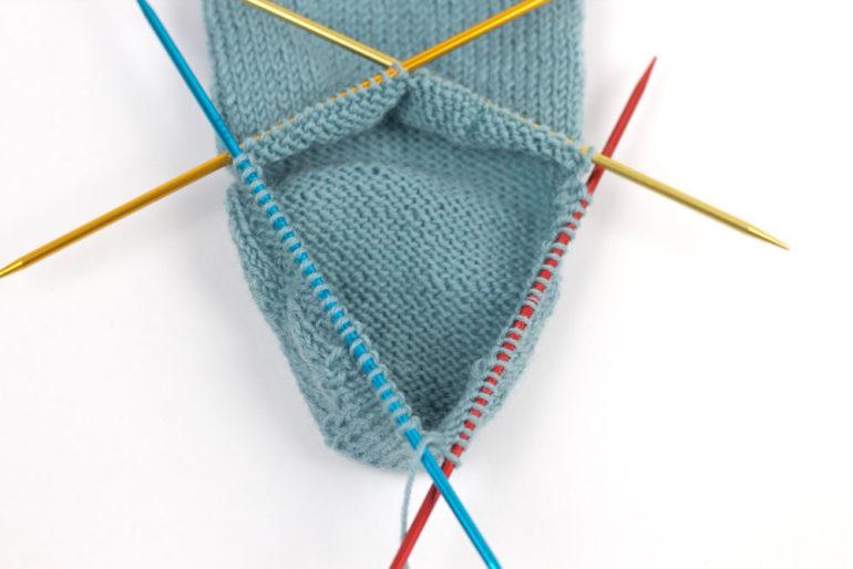 Ferse stricken: Ferse ist fertig