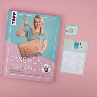 Buch Taschen nähen mit DIY Eule
