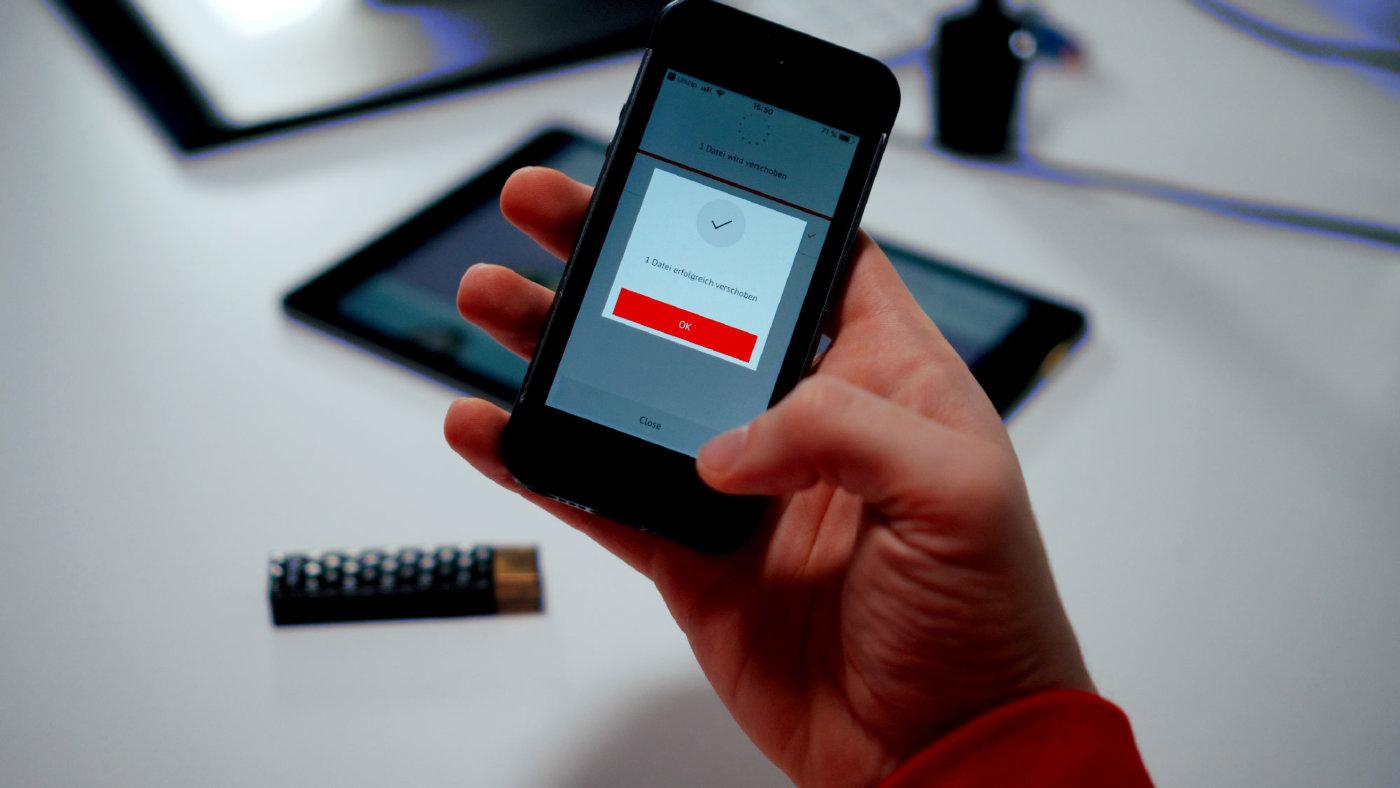 Stickdateien übertragen mit dem Smartphone