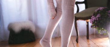 Overknee Strümpfe stricken »DISA« mit der Strickanleitung