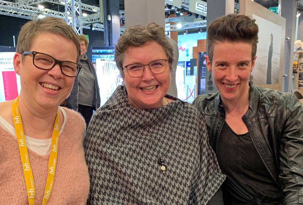 Kerstin Balke und Melanie Berg auf der h+h
