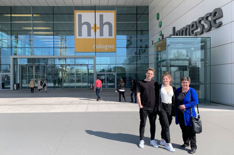 h+h cologne 2019 - Mark Marit Barbara vor der Messe