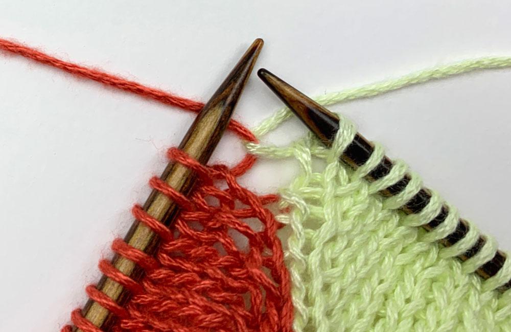 Eriu-Tuch - Die Fäden werden verkreuzt