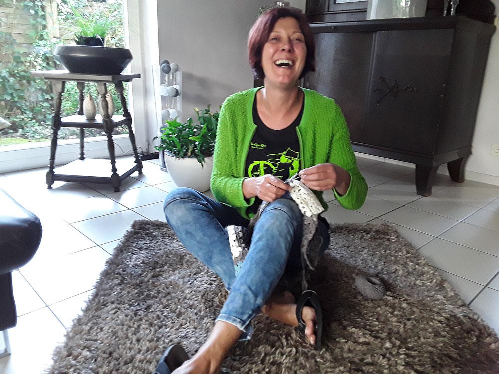Kerstin Huwe hat die Anleitung zum Seifensäckchen entworfen