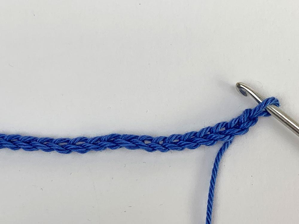 Seifensäckchen häkeln - Luftmaschenkette