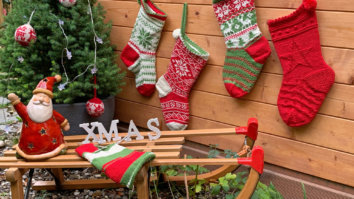 Weihnachten im Strumpf - vier Sockendesigns