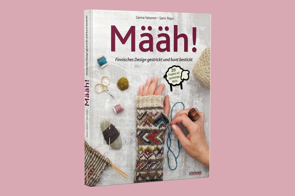 Määh! Finnisches Design gestrickt und bunt bestickt - Cover