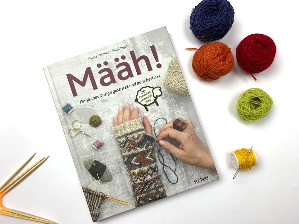 Määh! Finnisches Design gestrickt und bunt bestickt - Titelbild