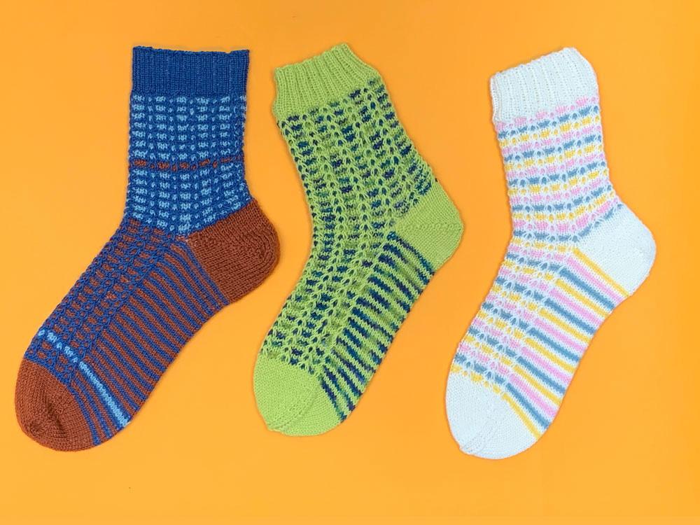 HelgeSocks - drei verschiedene Sockenversionen beim Sockenstricken KAL 2020