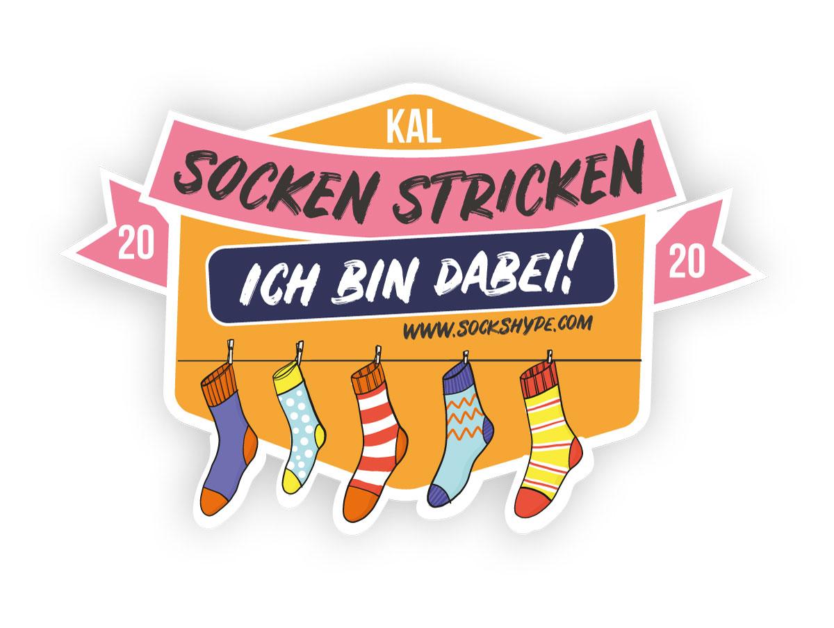 Logo: SockenstrickenKAL für deine Webseite oder Instagram