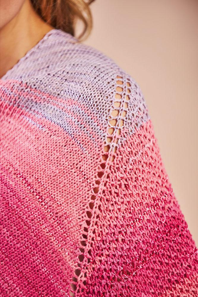 Tuch Rosarot aus dem Buch Stricklieblinge