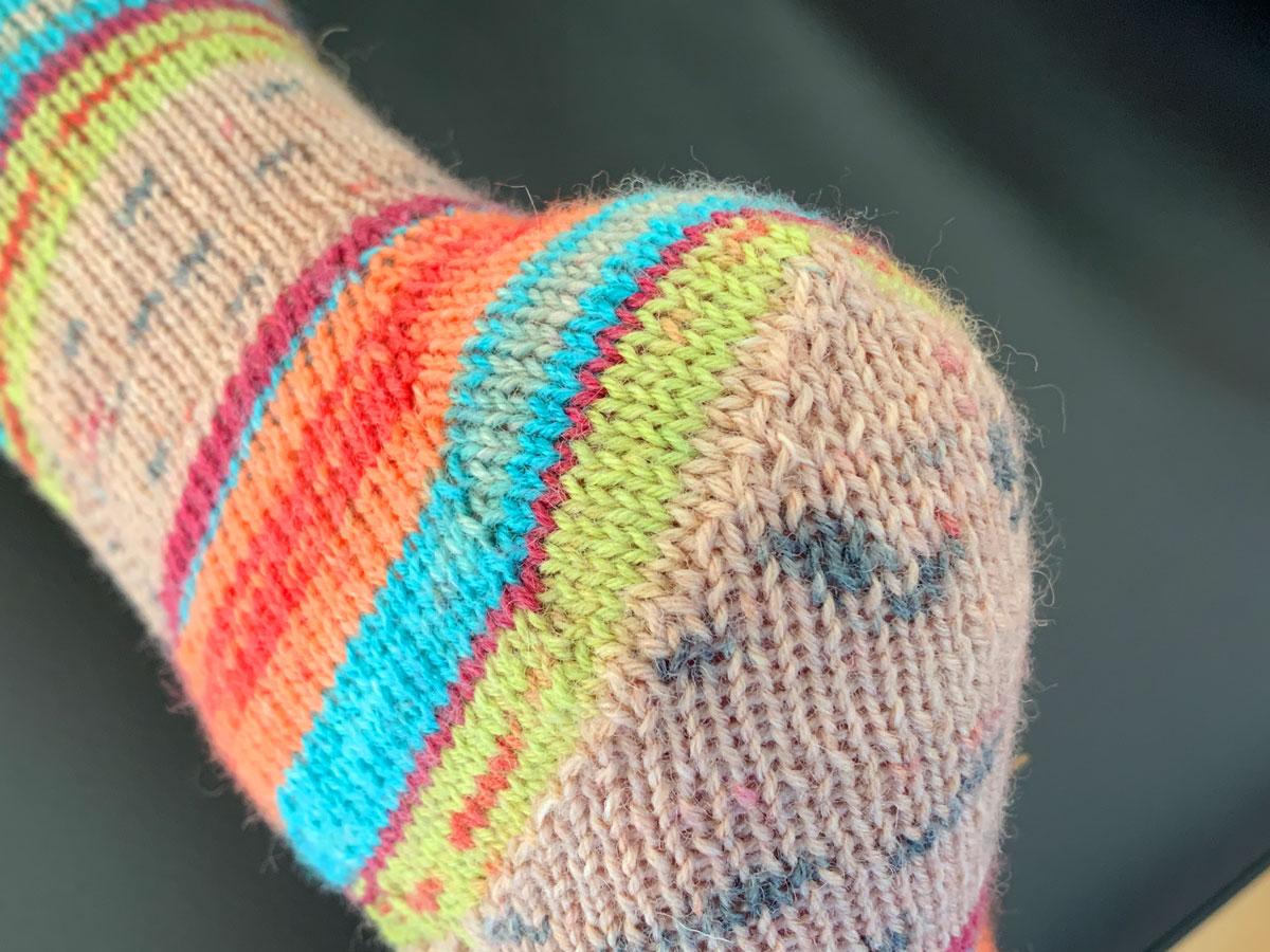 Socken mit Zunahmeferse - Passform