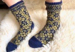 Die KerstaSocks - Socken im lettischen Stil