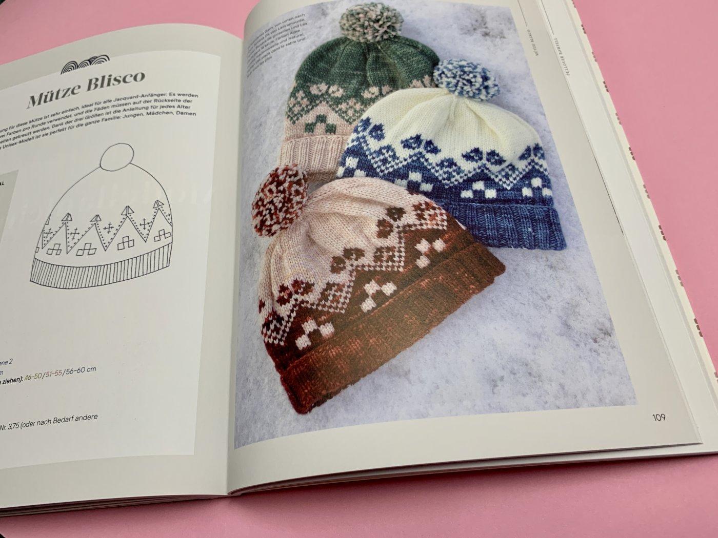 Mützen im Buch Jacquard - Am Stück gestrickt