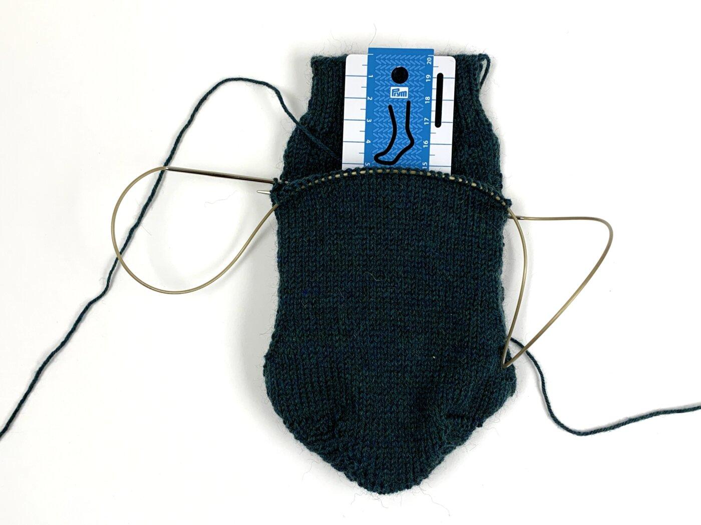 Handmaß Socke im Einsatz