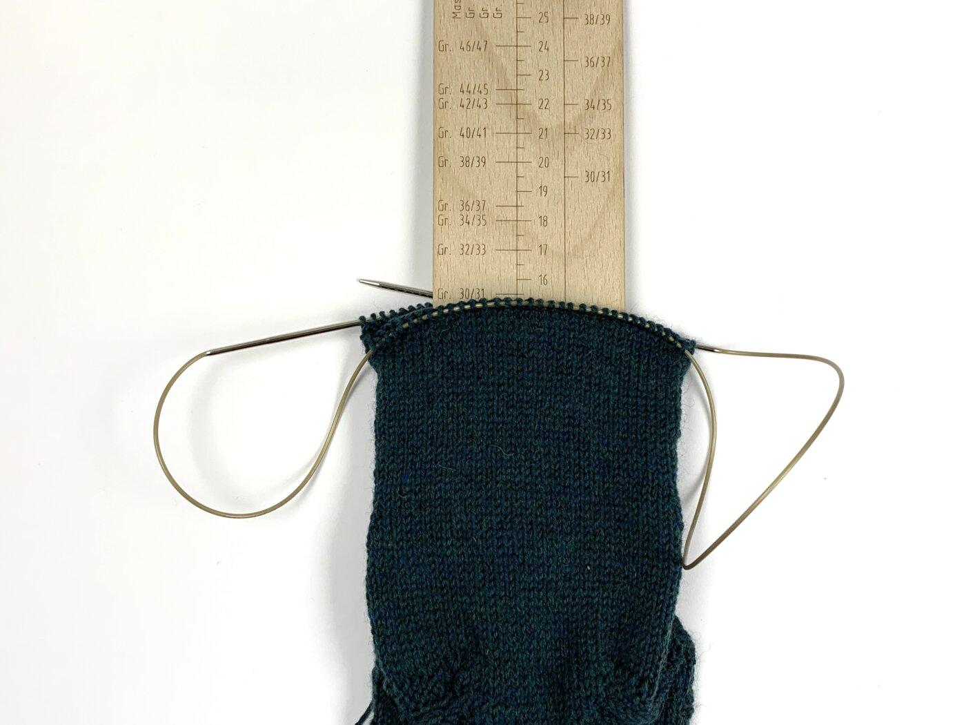 Sockenlineal 4fach - Ausmessen von Socken
