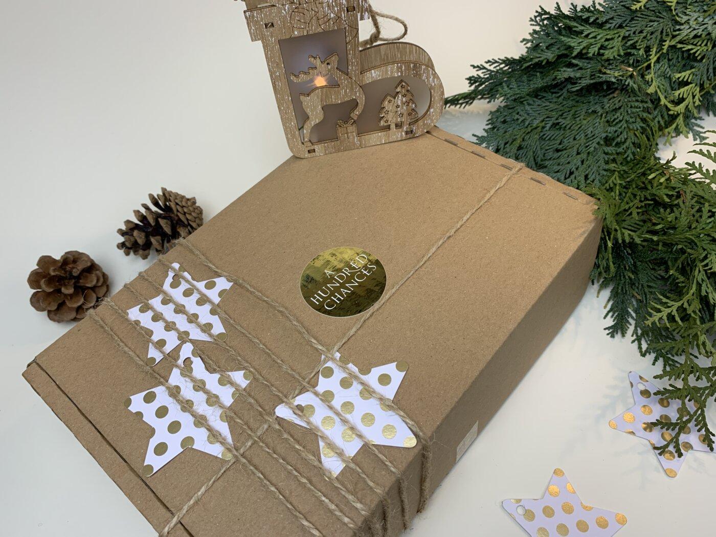 Geschenk verpacken Sterne
