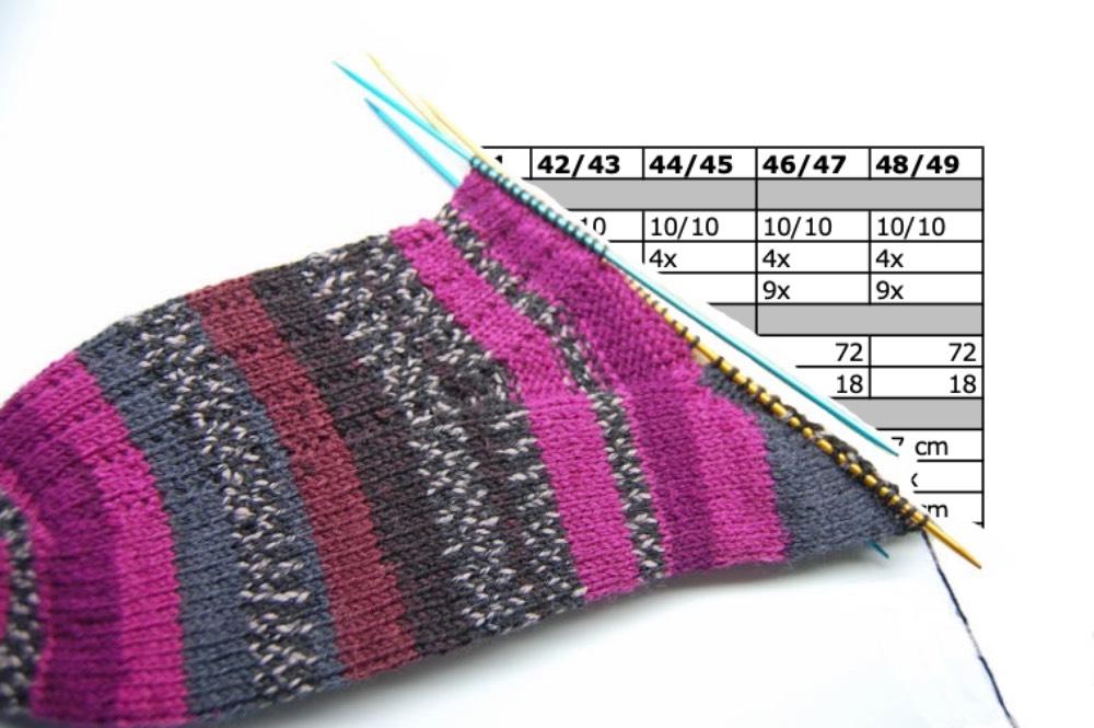 Socken in großen Größen stricken