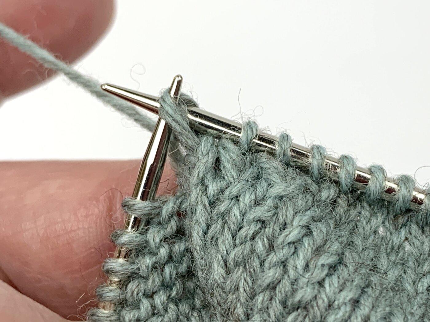 Fersenwand bei Toe Up Socken stricken für Babys und Kinder
