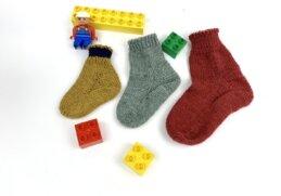 Toe Up Sockens stricken für Babys und Kinder