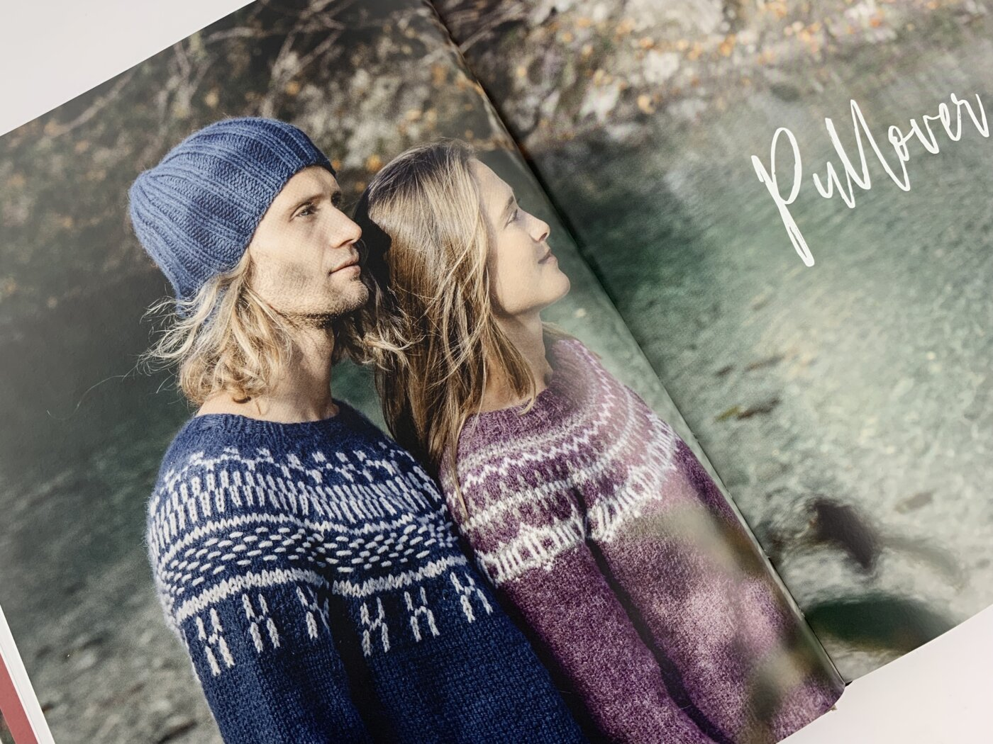 Pullis mit Jacquardmuster im Buch Islandpullover stricken