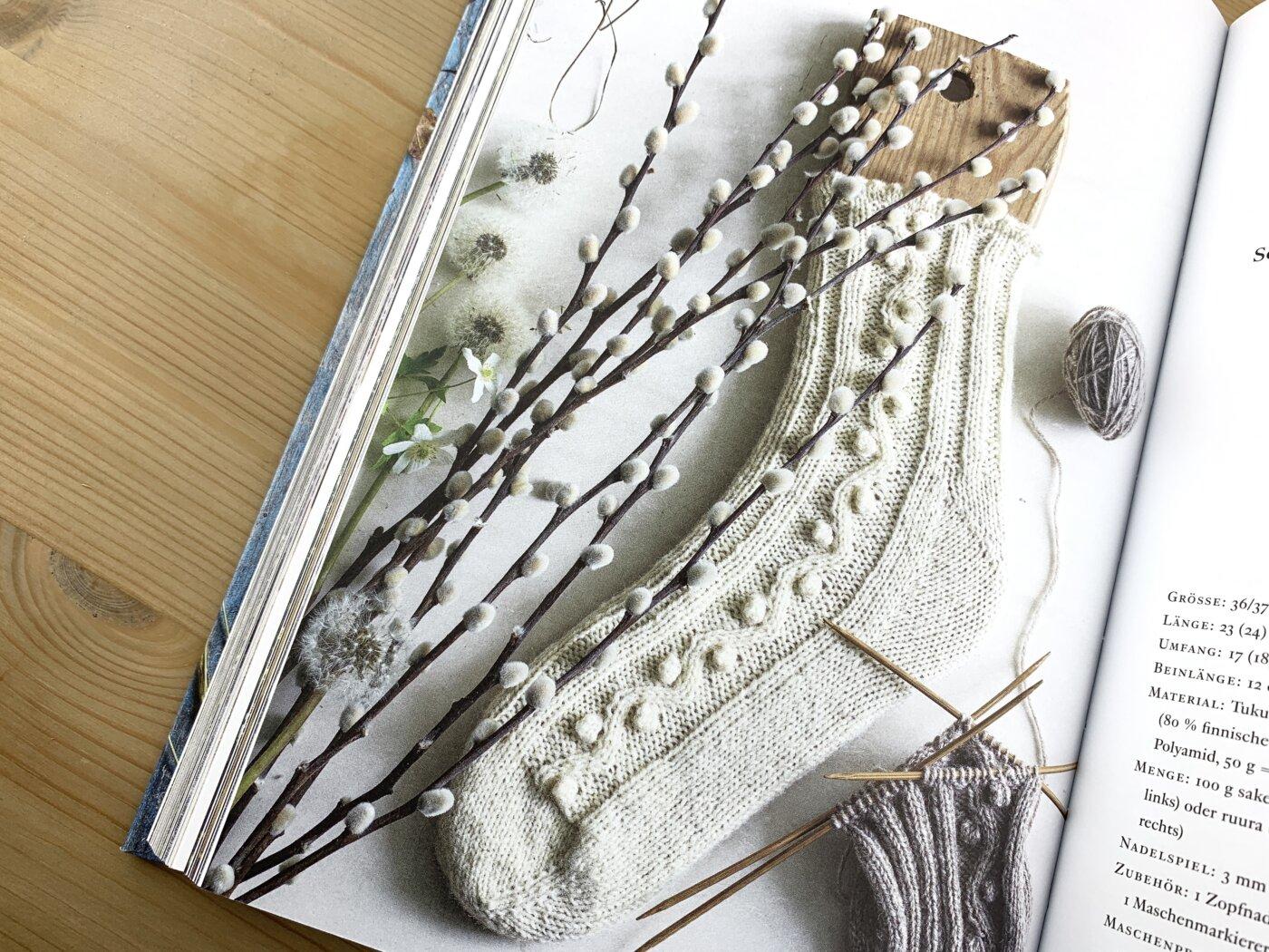 Weide - Socken im Buch Schwedische Socken stricken