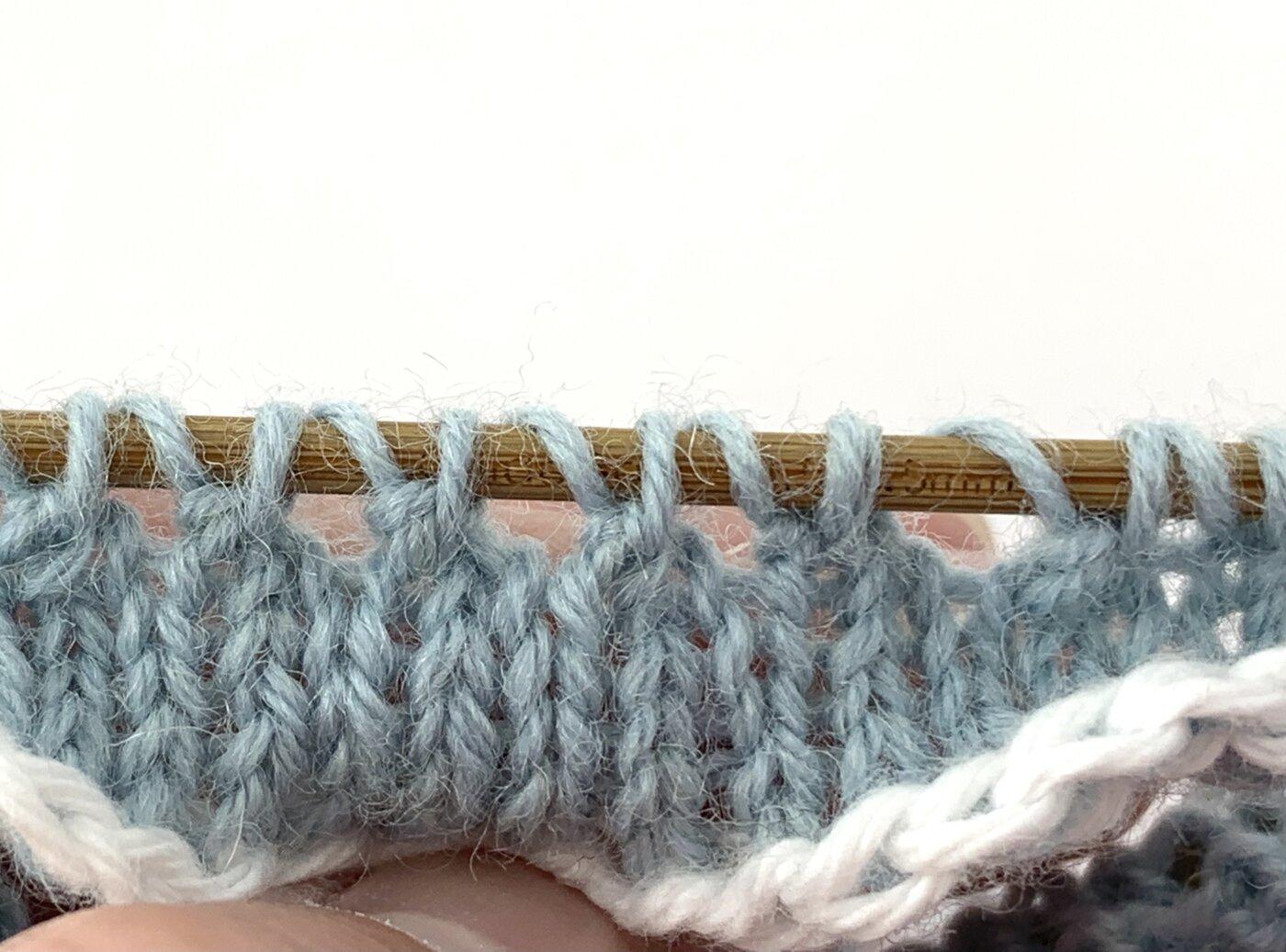 Mauszähnchen stricken - Das Muster