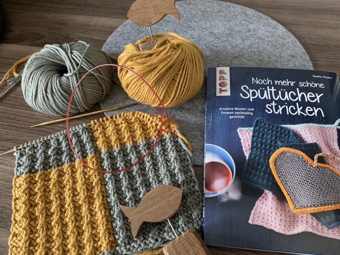 Baumwollgarn für Noch mehr Spültücher stricken